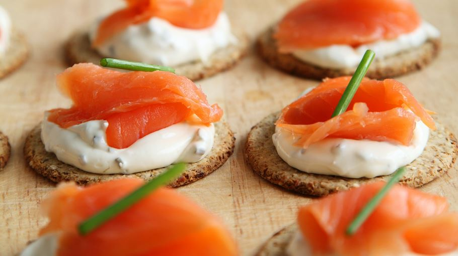 Tea smoked salmon, rye, whipped cheese